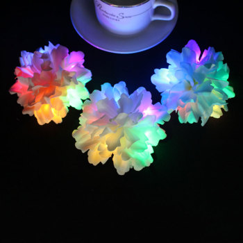 Blue/pink/white carnation led light up flower hair clip for festival