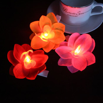 Red/yellow/pink orchid led light flower hair clip for festival