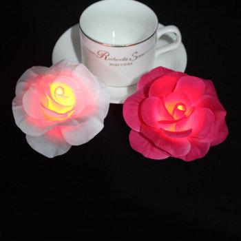 Rose/pink large rose led light flower hair clip for festival