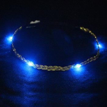 Gold/blue/black led light headband wholesaler