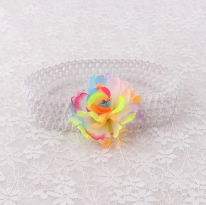 Colors pretty flower elastic mesh headbands for toddlers