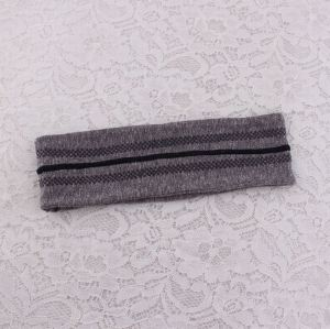 Grey sport headbands no slip for women