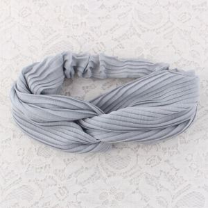 Grey turban elastic headband sports wholesale