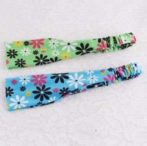 Turban printed floral yoga headband for women