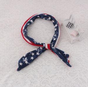 American flag bunny ear ribbon wire headband
