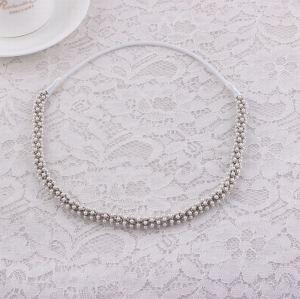 Handmade white pearl beaded headband bridal