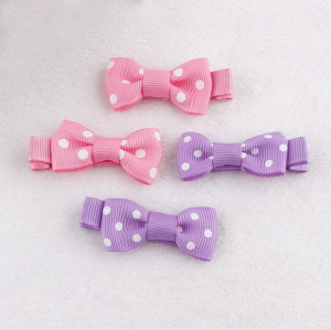 Girl baby polka dot bow hair clip