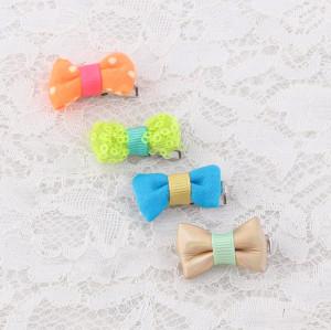 Pretty mini baby hair bows hair clips