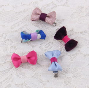 Girl baby mini hair bow hair clips