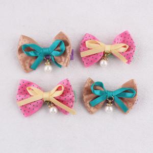 Cute polka dot bow hair clip for baby girl