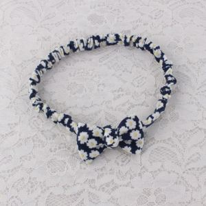 Women floral printed bow headband
