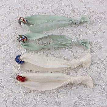 Multi elastic hair ties with beads