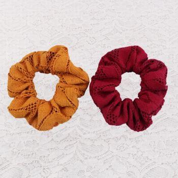 Multi 80s crochet hair scrunchie