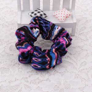 Multi purple silk hair scrunchie wholesale