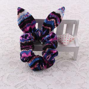 Girl purple bunny ear hair scrunchie wholesale