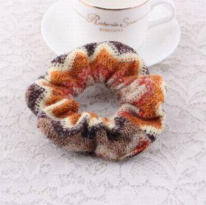 Winter crochet ponytail hair scrunchie