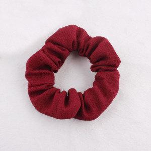 Purplish red ponytail holder elastic hair scrunchie
