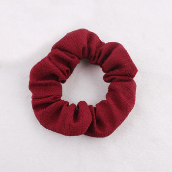 Purplish red ponytail holder elastic hair scrunchie