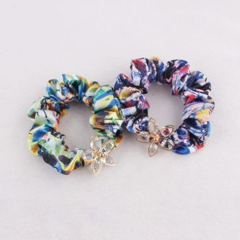 Printable crystal ponytail holder hair scrunchie wholesale