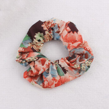 2016 Milan new style floral hair scrunchie for hair