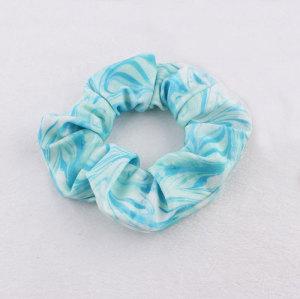 New blue ocean series silk-screen hair scrunchies