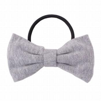 Gray lycar bow hair tie for girl