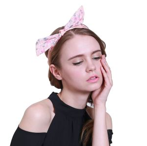 Beauty chiffon print bow tie headband