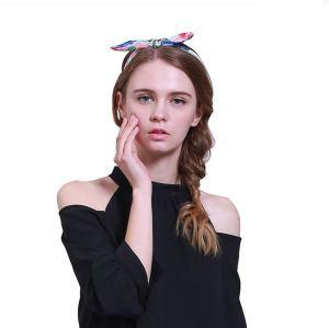 Girls chiffon print bow hairband for 2017