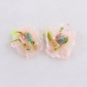 Korean cute ribbon flower hair clip for toddlers