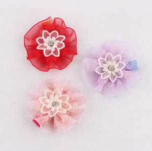 Korean cute ribbon flower hair clip for toddlers