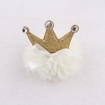 Babies girl lovely glitter princess crown hair clips