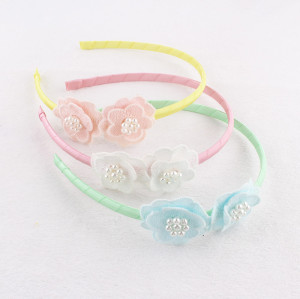 Wholesale lace flower alice band for baby girls