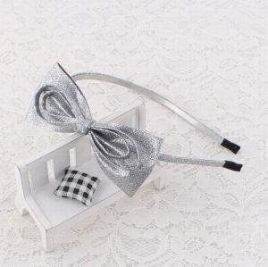 Silver large girl glitter ribbon hair band supplier