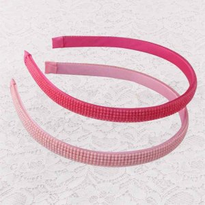 Princess pink rhinestone alice band for girls
