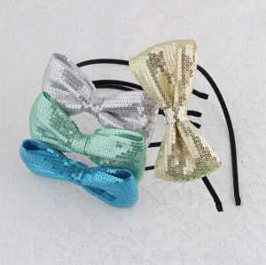 Sequin large bow hair hoop for girls