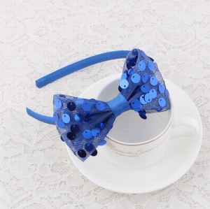 Sequin mesh bow alice band for girls