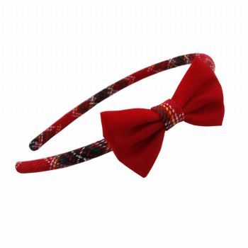 Supply girl gingham bow hair hoop