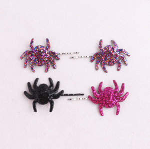 Colors spooky glitter spider hair pin uk