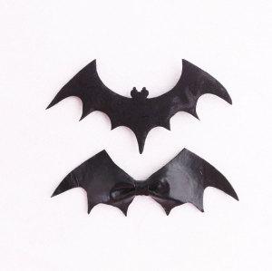 Batman Returns black batman hair bow clip set