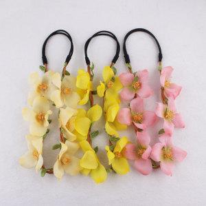 Fancy artificial flower head crown wholesale