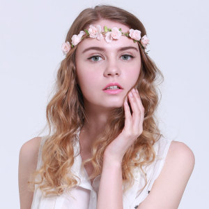 Boho rose flower headband Chinese manufacturer