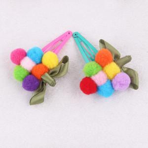 Adorable festival grape pom pom hair clip for babies girl