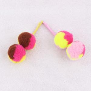 Adorable babies girl pom pom ball hair pin uk