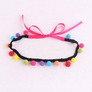 Candy girl mini pom pom party headband supplier