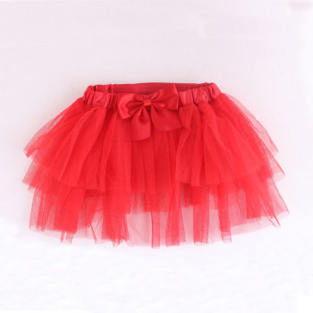 Red Lace Skirt Tutu Dress Summer Clothes For Pet Dog