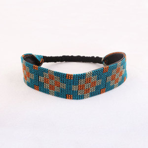Luxurious fashion embroidery leather headband for women