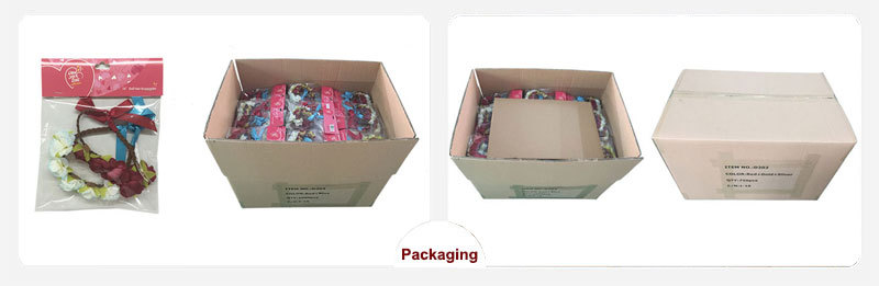 we has special packaging for flower headband if you need