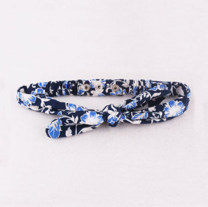 Adjustable floral stud head ear top knotted bow  headband wholesale