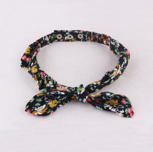 Adjustable dark floral stud head top bowknot headband uk