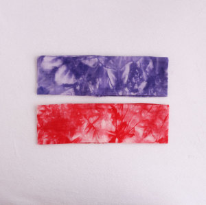 Hot sale high stretchy tie-dyed fitness headbands set